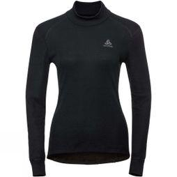 Odlo Womens Turtle Neck LS Top Black
