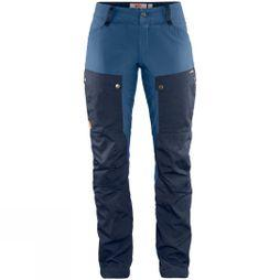 Fjallraven Womens Keb Trousers Curved Dark Navy / Uncle Blue