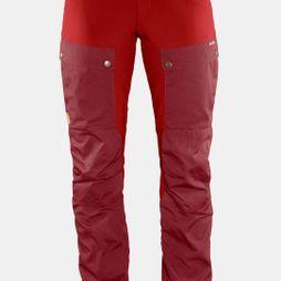 Fjallraven Womens Keb Trousers Curved Ox Red / Lava
