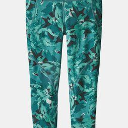 Patagonia Womens Centered Crops Abstract Jungle: Tasmanian Teal