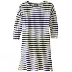 Patagonia Womens Seatoller Dress MIDNIGHT STRIPE CLASSIC NAVY