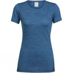 Icebreaker Womens Sphere SS Low Crewe Prussian Blue Heather