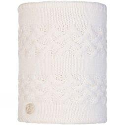 Buff Womens Savva Knitted Neckwarmer White