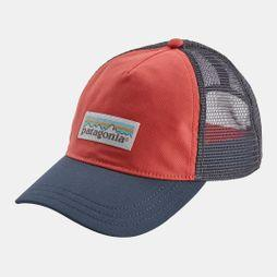 Patagonia Womens Pastel P-6 Label Layback Trucker Hat Spiced Coral