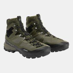 Mammut Mens Ducan Knit High GTX Shoe Dark Olive/Black