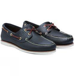 Timberland Mens Classic Boat Shoe Medium Blue Full Grain