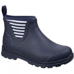 Muck Boot Mens Cambridge Ankle Premium Rain Boot Navy/White