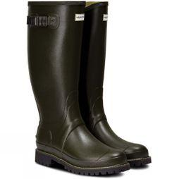 Hunter Balmoral Wide Fit Wellington Boots Dark Olive