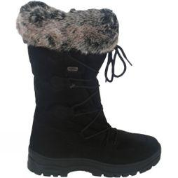 Calzat Women's Fur Trim Traction Boot Black
