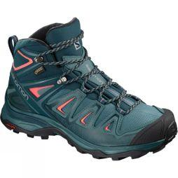 Salomon Womens X-Ultra Mid 3 GTX Boot  Hydro/Reflecting Pond/Durbarry
