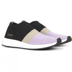 Ilse Jacobsen Womens Sock Sneakers  Black/Lilac/Grey
