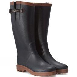Aigle Womens Aiglentine Fur Welly Marine/Amber