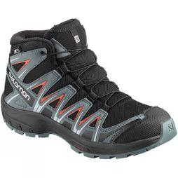 Salomon Kids XA Pro 3D Mid CSWP Boot Black/Stormy Weather/Cherry Tomato