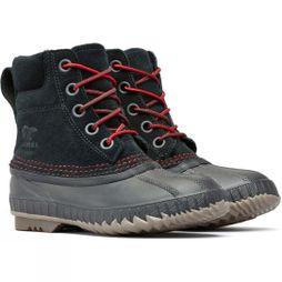 Sorel Boys Cheyanne II Lace Boot Black/ Mountain Red