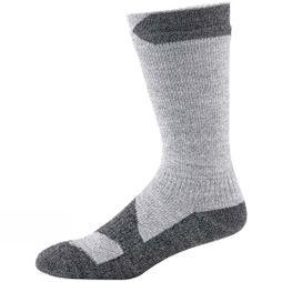 SealSkinz Men's Walking Thin Mid Socks  Grey marl/Dark grey marl
