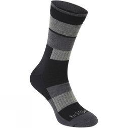 Bridgedale Merino Banded Trail Socks Black/Charcoal