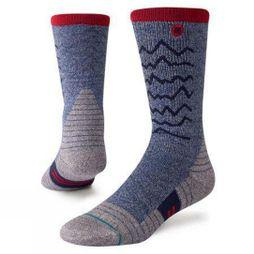 Stance Mens Trek Crew Socks Thunder Valley Trek Navy