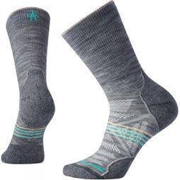 SmartWool Women's PhD Outdoor Light Crew Socks Light Gray