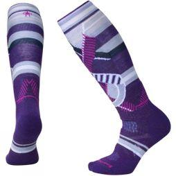SmartWool Womens PHD Medium Pattern Ski Sock Mountain Purple
