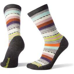 SmartWool Womens Hike Light Margarita Crew Socks Charcoal