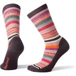 SmartWool Womens Hike Light Margarita Crew Socks Bordeaux
