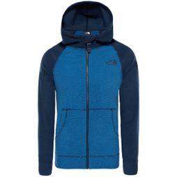 The North Face Boys Glacier Full Zip Hoodie Turkish Sea/ Cosmic Blue
