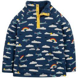 Frugi Childrens Snuggle Fleece Marine Blue Scilly Skybus SS19