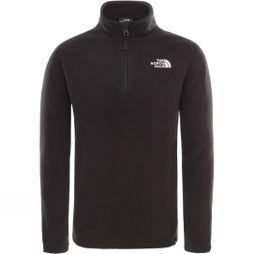 The North Face Youths Glacier 1/4 Zip Fleece Age 14+ Black/White