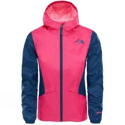 The North Face Girls Zipline Rain Jacket Petticoat Pink/Blue Wing Teal