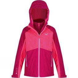 Regatta Kids Hydrate IV 3 In 1 Jacket Dark Cerise/Neon Pink
