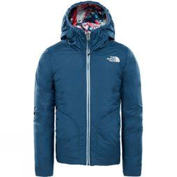 The North Face Girls Reversible Perrito Jacket Blue Wing Teal