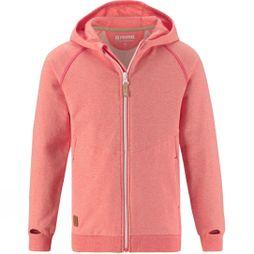 Reima Girls Musta Hoodie Coral Heather
