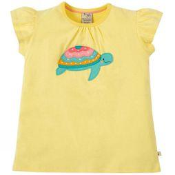 Frugi Girls Ellie Applique T-Shirt Sunshine/Turtle SS19
