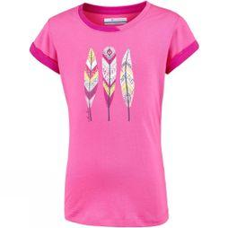 Columbia Girls Lost Trail Short Sleeve T-Shirt 14+ Wild Geranium/Haute Pink Feathers