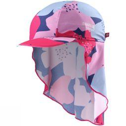 Reima Kid's Vesikko Sun Hat STRAWBERRY RED FLOWER PRINT