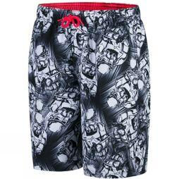 "Speedo Boys Star Wars Allover Watershort 17"" Black/White"