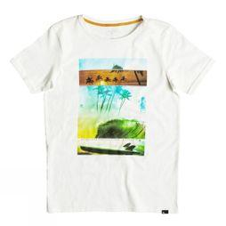 Quiksilver Boys Good Choice Slub Tee Snow White