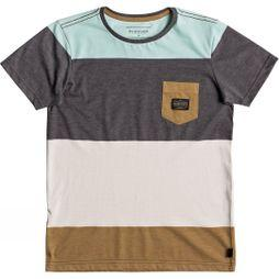 Quiksilver Kids Aspenshore SS Pocket Tee Eggshell Blue Heather