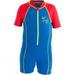 Speedo Kids Seasquad Hot Tot Suit Neon Blue/ High Risk Red