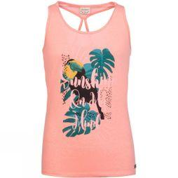 Protest Girls Bora Jr Singlet Coral Blaze