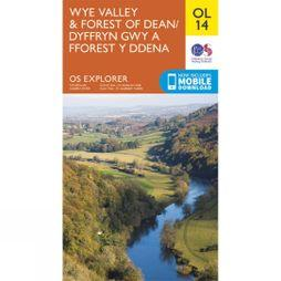 Ordnance Survey Explorer Map OL14 Wye Valley and Forest of Dean V15