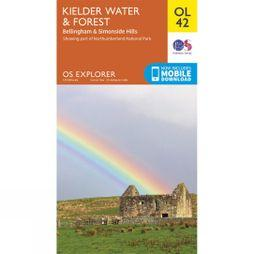 Ordnance Survey Explorer Map OL42 Kielder Water and Forest V15