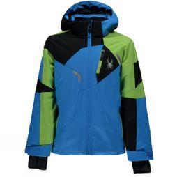 Spyder Boy's Mini Leader Jacket Fresh/ French Blue/ Black