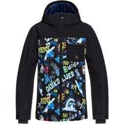 Quiksilver Boys Mission Block Jacket 14+ Black A Night At The Mountain
