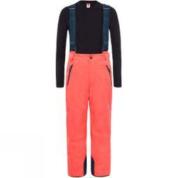 The North Face Youth Snowquest Suspender Plus Pant Rocket Red