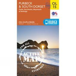 Ordnance Survey Active Explorer Map OL15 Purbeck and South Dorset V15
