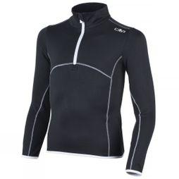 Campagnolo Girl's Stretch Fleece 1/4 Zip Nero/Bianco