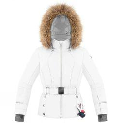 Poivre Blanc Girls Belted Ski Jacket White