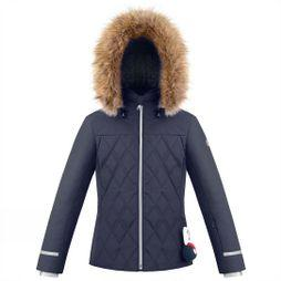 Poivre Blanc Girls Diamond Quilted Ski Jacket Gothic Blue3