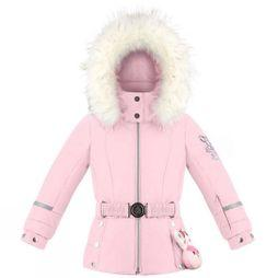 Poivre Blanc Girls Mini Belted Ski Jacket Fever Pink